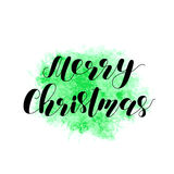 Χριστούγεννα εύθυμα Γράφοντας διανυσματική απεικόνιση Στοκ Φωτογραφία