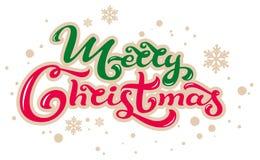 Χριστούγεννα εύθυμα Γράφοντας κείμενο για τη ευχετήρια κάρτα απεικόνιση αποθεμάτων