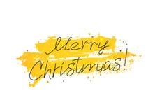 Χριστούγεννα εύθυμα Εγγραφή και καλλιγραφία Στοκ Φωτογραφία