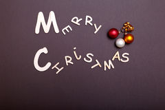 Χριστούγεννα εύθυμα ευχετήρια κάρτα και διακοσμήσεις πρόσθετα Χριστούγεννα μορφής ανασκόπησης Στοκ Εικόνα