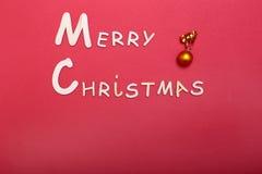 Χριστούγεννα εύθυμα ευχετήρια κάρτα και διακοσμήσεις πρόσθετα Χριστούγεννα μορφής ανασκόπησης Στοκ εικόνα με δικαίωμα ελεύθερης χρήσης