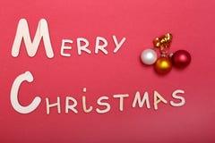 Χριστούγεννα εύθυμα ευχετήρια κάρτα και διακοσμήσεις πρόσθετα Χριστούγεννα μορφής ανασκόπησης Στοκ Εικόνες