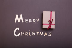 Χριστούγεννα εύθυμα κιβώτιο ευχετήριων καρτών και δώρων πρόσθετα Χριστούγεννα μορφής ανασκόπησης Στοκ εικόνες με δικαίωμα ελεύθερης χρήσης