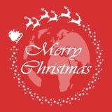 Χριστούγεννα εύθυμα Μύγες Άγιου Βασίλη σε όλο τον κόσμο Έννοια Χριστουγέννων επίσης corel σύρετε το διάνυσμα απεικόνισης απεικόνιση αποθεμάτων