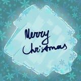 Χριστούγεννα εύθυμα Πλαίσιο με snowflakes και τον πάγο Στοκ φωτογραφία με δικαίωμα ελεύθερης χρήσης