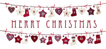 Χριστούγεννα ημερολογ&iot Στοκ φωτογραφία με δικαίωμα ελεύθερης χρήσης