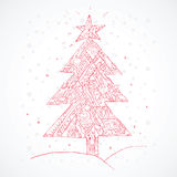 Χριστούγεννα η διανυσματική έκδοση δέντρων χαρτοφυλακίων μου διάνυσμα Στοκ Φωτογραφίες