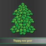 Χριστούγεννα η διανυσματική έκδοση δέντρων χαρτοφυλακίων μου καλή χρονιά Στοκ Εικόνες