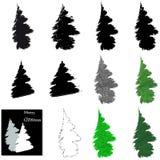 Χριστούγεννα η διανυσματική έκδοση δέντρων χαρτοφυλακίων μου διανυσματική απεικόνιση