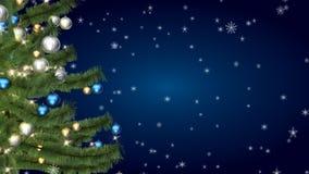 Χριστούγεννα η διανυσματική έκδοση δέντρων χαρτοφυλακίων μου απόθεμα βίντεο