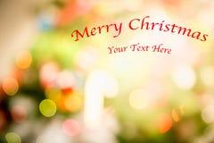 Χριστούγεννα διακοπές Bokeh αφηρημένα Χριστούγεννα ανασκόπησης Στοκ Εικόνες