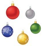 Χριστούγεννα διακοσμήσεων Χριστουγέννων σφαιρών σφαιρών Στοκ Εικόνα