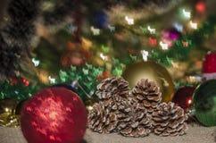 Χριστούγεννα, διακόσμηση, έτος, νέο, διακοπές, ντεκόρ, περίκομψο Στοκ Φωτογραφία