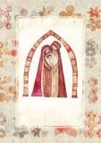 Χριστούγεννα: Ιησούς Χριστός, Joseph, Mary διανυσματική απεικόνιση