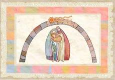 Χριστούγεννα Ιησούς Joseph Mary Χρ& διανυσματική απεικόνιση