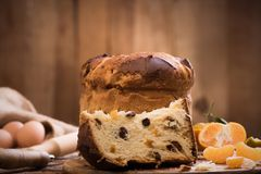 Χριστούγεννα ιταλικά κέικ Στοκ εικόνες με δικαίωμα ελεύθερης χρήσης