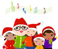 Χριστούγεννα κάλαντων διανυσματική απεικόνιση