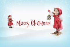 Χριστούγεννα κάλαντων Στοκ Φωτογραφίες