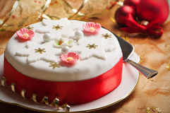 Χριστούγεννα κέικ στοκ εικόνες με δικαίωμα ελεύθερης χρήσης