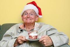 Χριστούγεννα κέικ Στοκ Εικόνα
