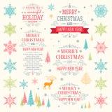 Χριστούγεννα καθορισμένα - απεικόνιση Στοκ φωτογραφία με δικαίωμα ελεύθερης χρήσης
