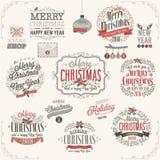 Χριστούγεννα καθορισμένα - ετικέτες ελεύθερη απεικόνιση δικαιώματος