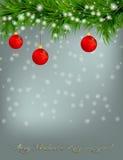 Χριστούγεννα και ανασκόπηση καλής χρονιάς διανυσματική απεικόνιση