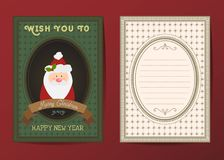 Χριστούγεννα και διανυσματική ευχετήρια κάρτα καλής χρονιάς Στοκ Φωτογραφίες