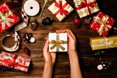 Χριστούγεννα και νέα έννοια περιόδου χειμερινών διακοπών έτους στοκ εικόνες με δικαίωμα ελεύθερης χρήσης