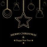 Χριστούγεννα και νέα ανασκόπηση έτους Στοκ φωτογραφία με δικαίωμα ελεύθερης χρήσης