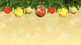 Χριστούγεννα και νέα ανασκόπηση έτους Στοκ Εικόνα