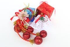Χριστούγεννα και νέα αντικείμενα διακοσμήσεων έτους Στοκ φωτογραφίες με δικαίωμα ελεύθερης χρήσης