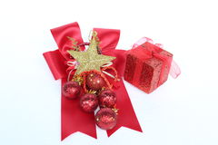 Χριστούγεννα και νέα αντικείμενα διακοσμήσεων έτους Στοκ Εικόνες