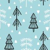 Χριστούγεννα και νέα διανυσματικά άνευ ραφής σχέδια έτους Στοκ Εικόνες