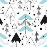 Χριστούγεννα και νέα διανυσματικά άνευ ραφής σχέδια έτους Στοκ εικόνες με δικαίωμα ελεύθερης χρήσης