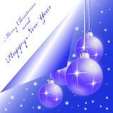 Χριστούγεννα και νέα ευχετήρια κάρτα έτους Στοκ Εικόνα