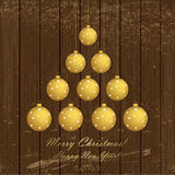 Χριστούγεννα και νέα ευχετήρια κάρτα έτους Στοκ φωτογραφία με δικαίωμα ελεύθερης χρήσης