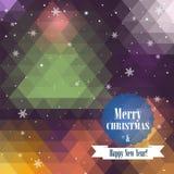Χριστούγεννα και νέα ευχετήρια κάρτα έτους Στοκ εικόνες με δικαίωμα ελεύθερης χρήσης