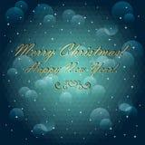 Χριστούγεννα και νέα κάρτα έτους. Γεωμετρικό σχέδιο  Στοκ φωτογραφία με δικαίωμα ελεύθερης χρήσης