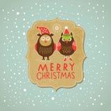 Χριστούγεννα και νέα κάρτα έτους ελεύθερη απεικόνιση δικαιώματος
