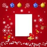 Χριστούγεννα και νέα κάρτα χαιρετισμών έτους Στοκ Εικόνες