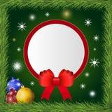 Χριστούγεννα και νέα κάρτα χαιρετισμών έτους Στοκ Εικόνα