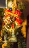 Χριστούγεννα και νέα κουδούνια διακοσμήσεων έτους Στοκ Φωτογραφία