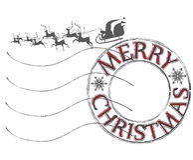 Χριστούγεννα και νέα ταχυδρομική σφραγίδα θέματος έτους Στοκ Εικόνες