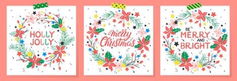 Χριστούγεννα και νέα τυπογραφία έτους στοκ φωτογραφία με δικαίωμα ελεύθερης χρήσης