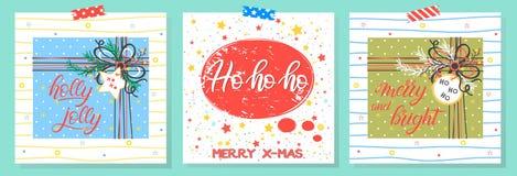 Χριστούγεννα και νέα τυπογραφία έτους στοκ εικόνες