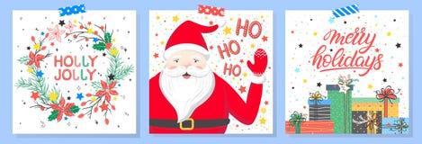 Χριστούγεννα και νέα τυπογραφία έτους στοκ εικόνα