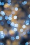 Χριστούγεννα και νέα φω'τα Bokeh έτους Στοκ Φωτογραφίες