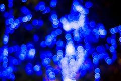 Χριστούγεννα και νέα φω'τα Bokeh έτους Στοκ Εικόνες