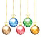 Χριστούγεννα και νέες διακοσμήσεις δέντρων έτους Στοκ Φωτογραφίες